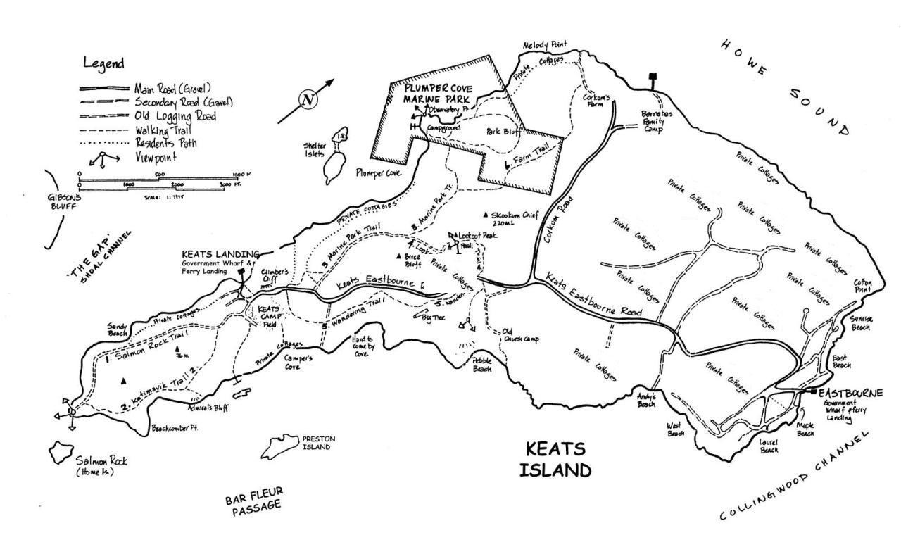 Keats Island - Maps