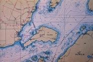 Keats Island British Columbia Hydrographic Howe Sound Location with Compass